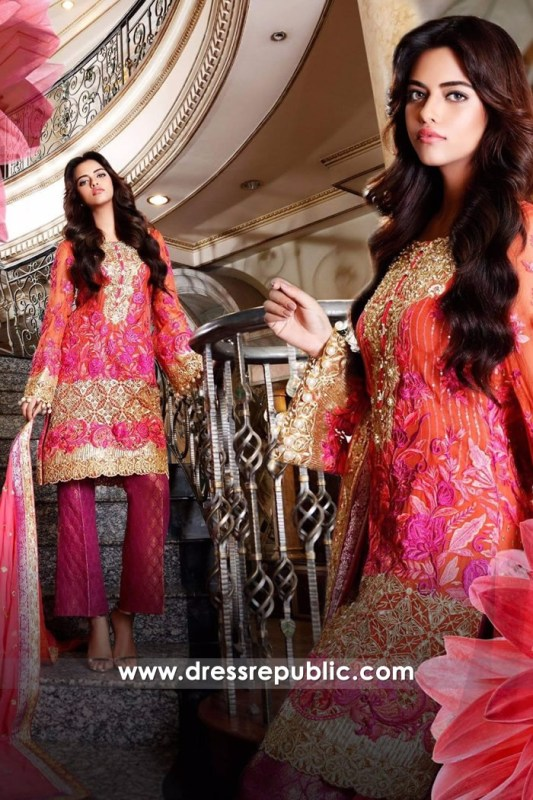 DRP6706 - Nomi Ansari Embroidered Chiffon 2017