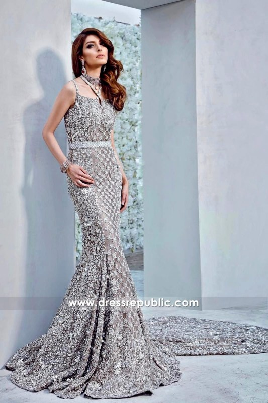 DR14317 - Shop Online Beautiful Heavy Embellished Pakistani Bridal Gowns in USA
