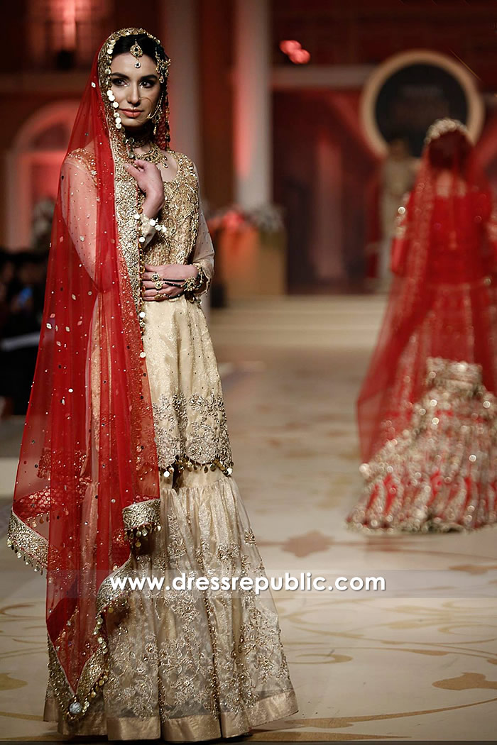 DR14469 - Designer Wedding Sharara Gharara