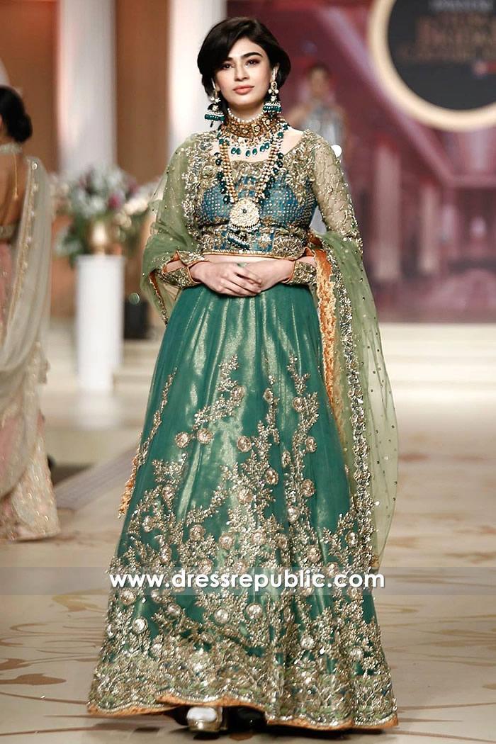 DR14483 - Saheefa Jabbar Khattak PHBCW Emerald Green Bridal Lehenga