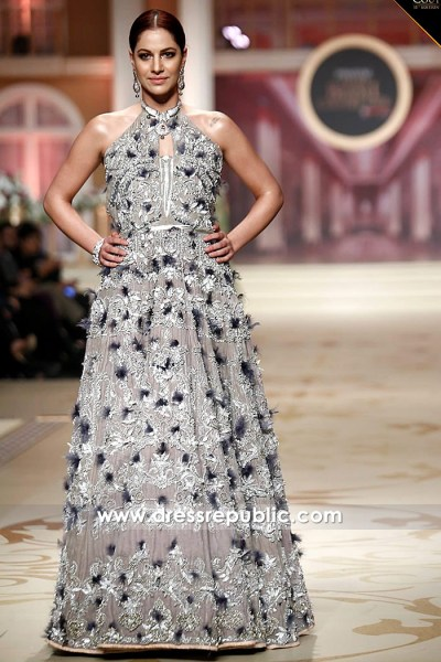 DR14484 - Pakistani Designer Long Gown 2018 USA, UK, Canada
