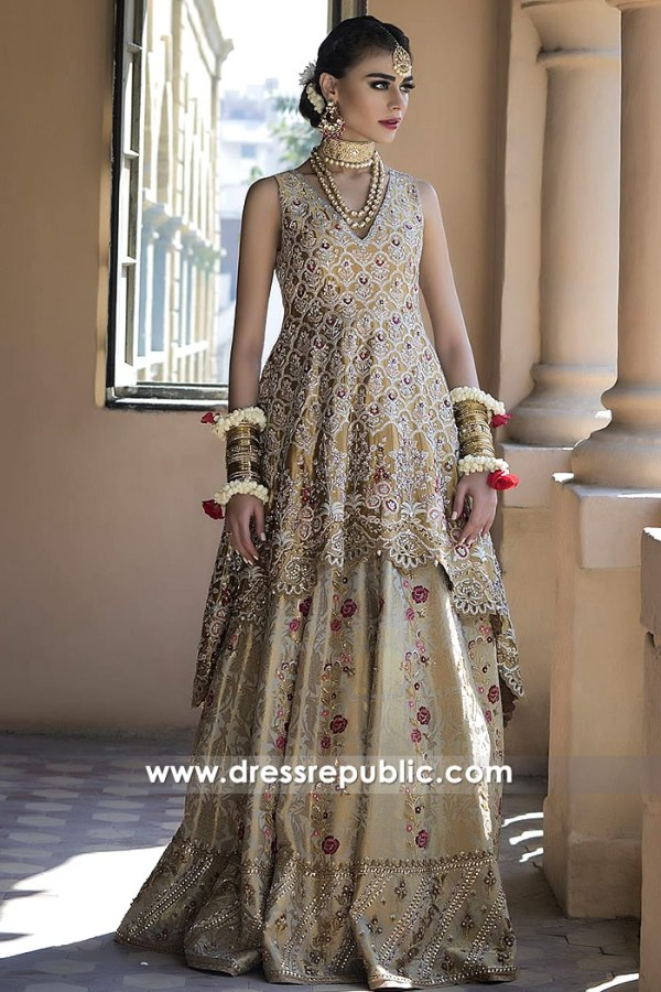 DR14498 - Pakistani Bridal Designer Dress Shop Kuwait
