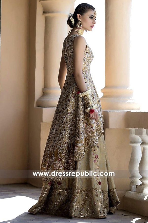 DR14498b - Pakistani Bridal Designer Dress Shop Kuwait