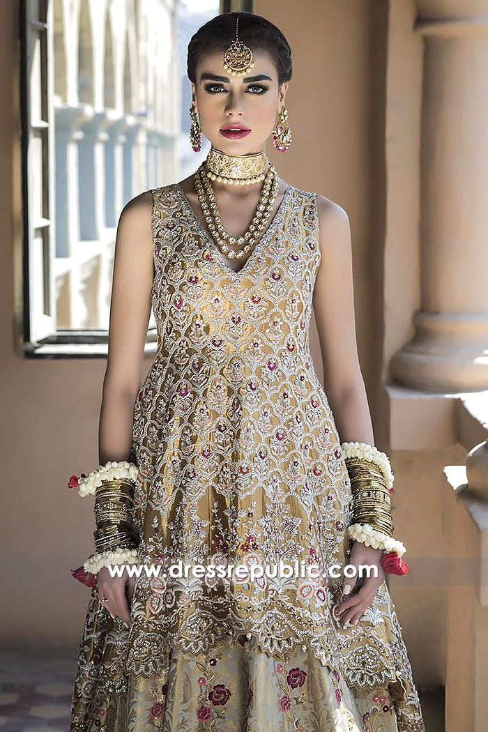 DR14498c - Pakistani Bridal Designer Dress Shop Kuwait