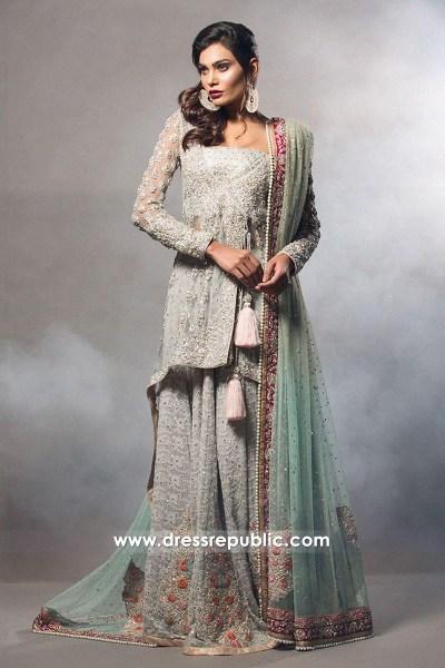 DR14510 - Chiffon Bridal Lehenga Choli by Zainab Chottani