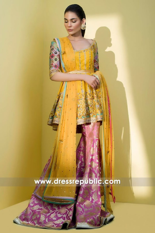 DR14614 Indian Wedding Guest Dresses - Dress for Mehndi, Pakistani Dresses