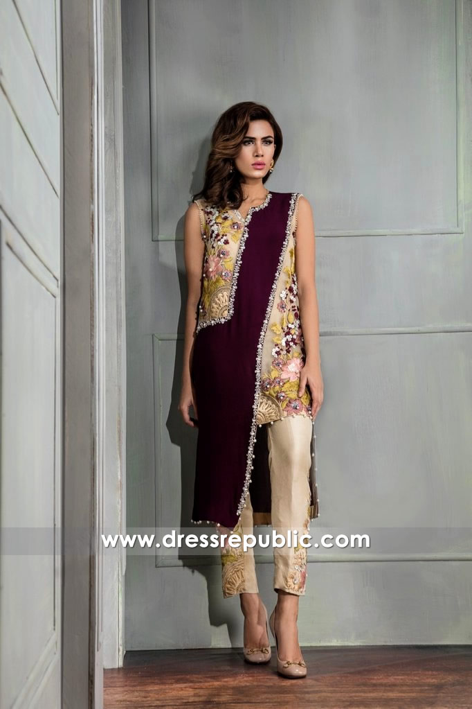 DR14661 Pakistani Designer Dresses 2018 UAE, Saudi Arabia, Qatar, Kuwait, Oman