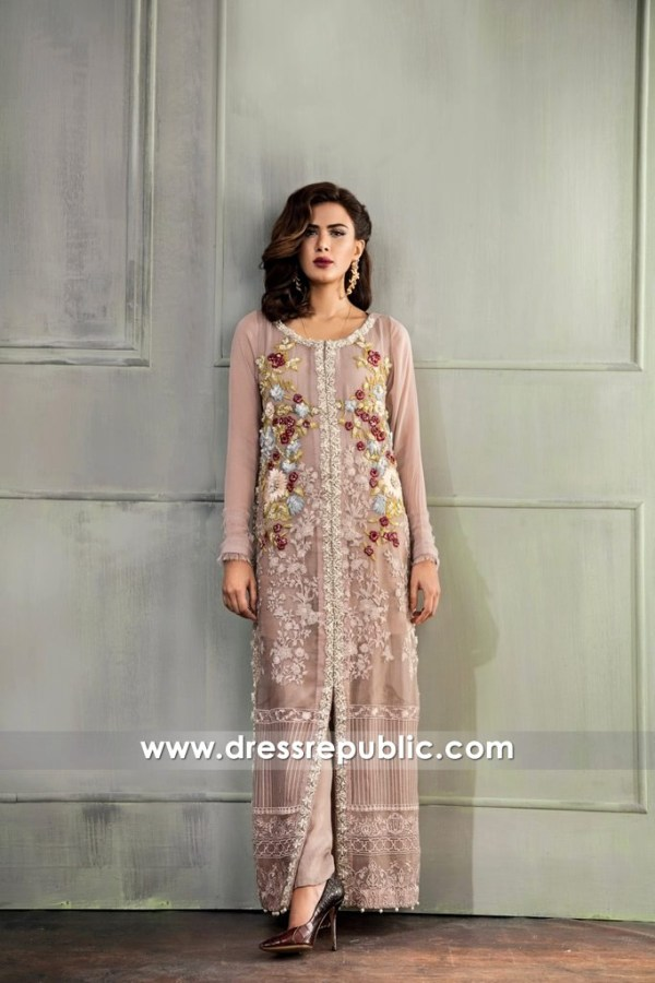 DR14663 Pakistani Long Dresses 2018 New York, New Jersey, California, USA