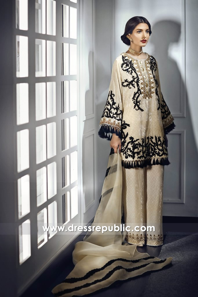 DR14677 Pakistani Designer Dresses for Ramadan 2018 London, Manchester, UK