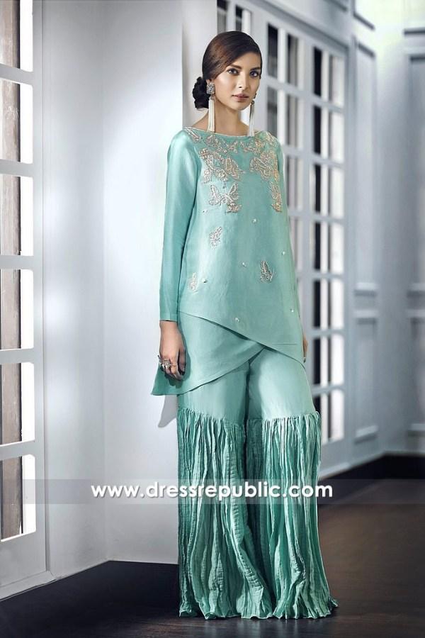 DR14683 Pakistani Designer Eid Dresses 2018 Toronto, Vancouver, Canada