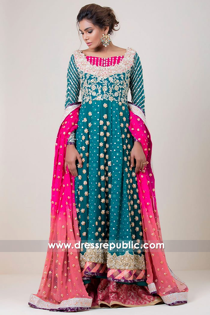 DR14707 Zainab Chottani Anarkali Dress in Teal Buy in Los Angeles, CA