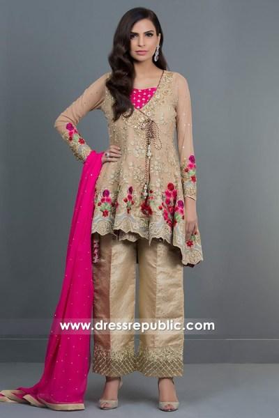 DR14721 Cobalt Blue Long Jacket Dress by Zainab Chottani Shop Online in UK, USA