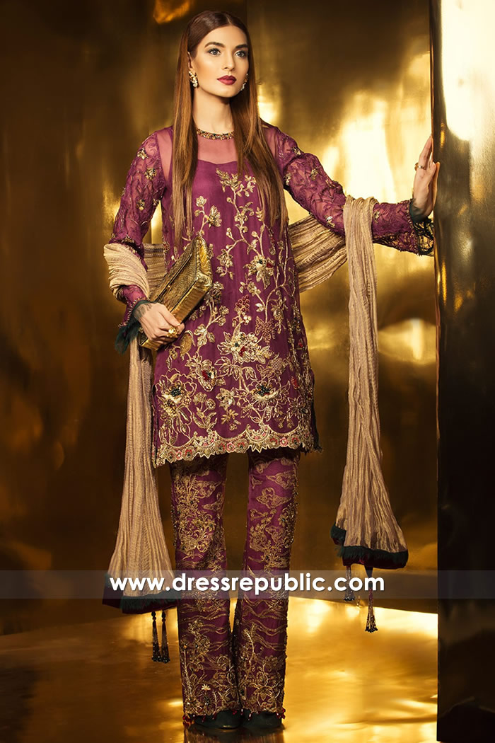 DR14741 Party Wear Dresses for Asian Indian Wedding Guests 2018 Online