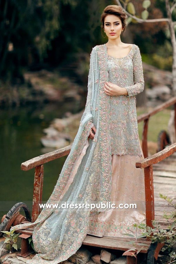 DR14872 Pakistani Bridal Lehenga 2018 for Walima USA New York, California, Texas