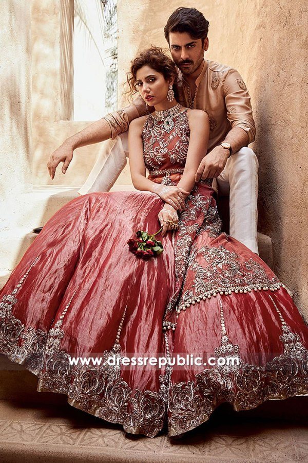 DR14889 Pakistani Designer Lehenga by Sadaf Fawad Afzal Khan 2018 Collection