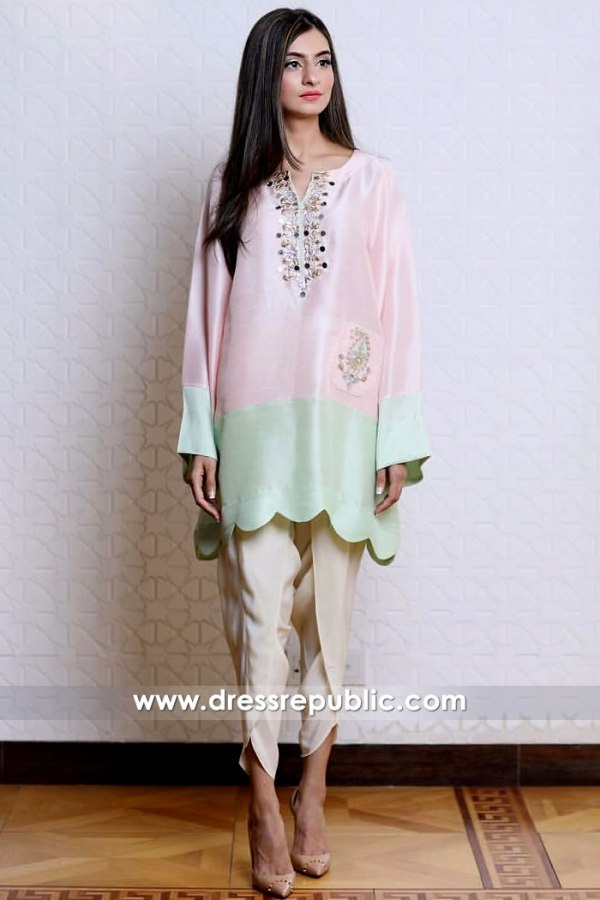 DR14904 Casual Pakistani, Indian Dresses 2018 by Designers Online Shop