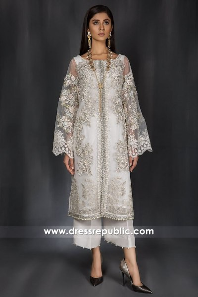DR14981 Pakistani Designers Eid Collection 2018 UK, USA, Canada, Australia, Europe