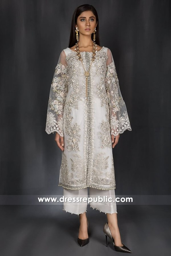 DR14981 Pakistani Designers Eid Collection 2018 UK, USA, Canada, Australia, Europe