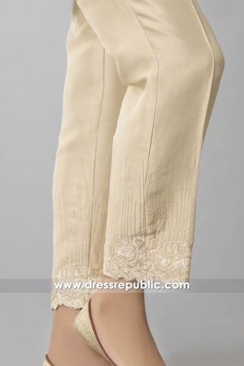 DRL1013 Raw silk Embroidered Pants Buy in New York, New Jersey, Texas, Florida