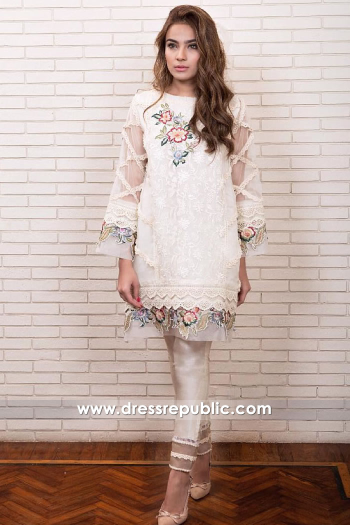 DR15013 Farah Talib Aziz Pret Collection 2018 New York, New Jersey, Virginia