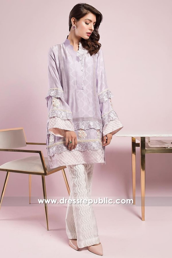 DR15021 Lavender, Light Purple Party Dress With Pants London, Manchester, UK