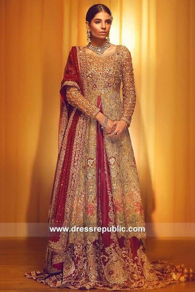DR15053 Bridal Anarkali Lehenga Online 2018 UK, USA, Canada, Australia