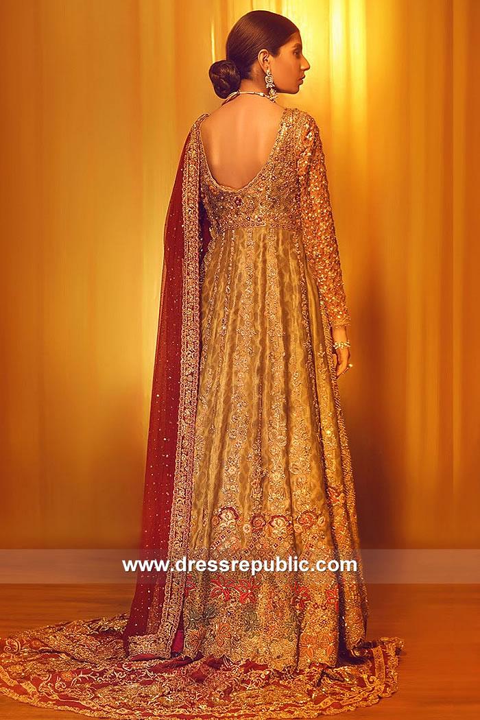 DR15053b Bridal Anarkali Lehenga Online 2018 UK, USA, Canada, Australia