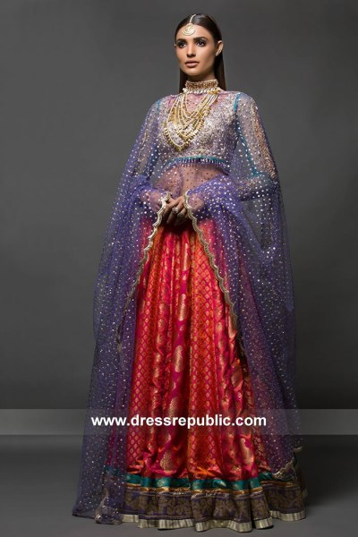 DR15086 Pakistani Designer Dresses for Mehndi Function, Mayoon, Henna Night