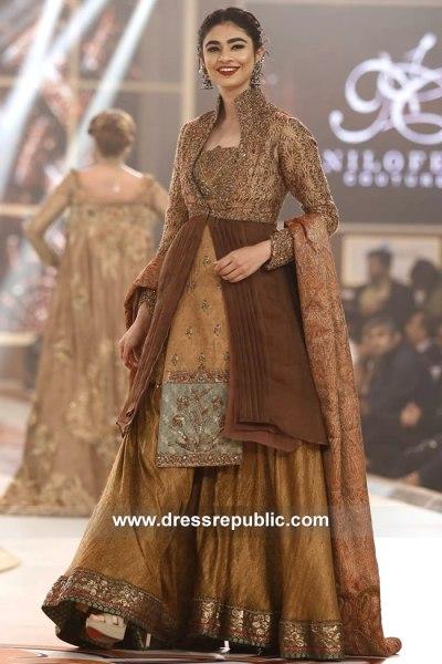 DR15135 Nilofer Shahid Wedding Guest Dress 2018 New York, New Jersey, USA