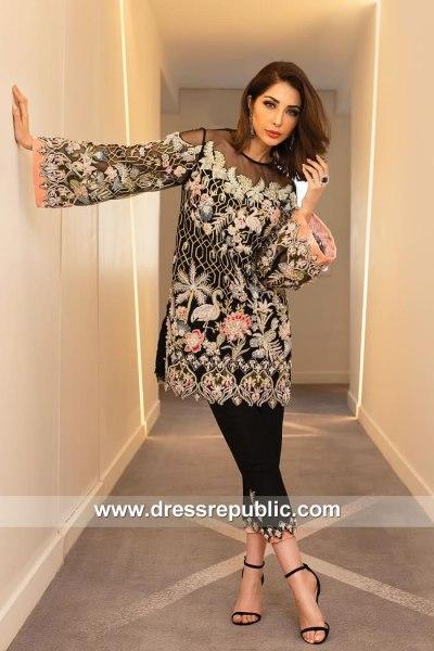 Black Ritzy Pakistani Designer Party Dress UK, USA, Canada, Australia