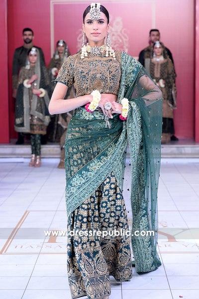 DR15209 Pakistani Designer Hyderabadi Khada Dupatta Lehenga Saree Buy Online