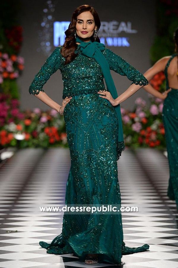 DR15213 Pakistani Designer Dresses 2018 USA Buy Trabzon Collection Online