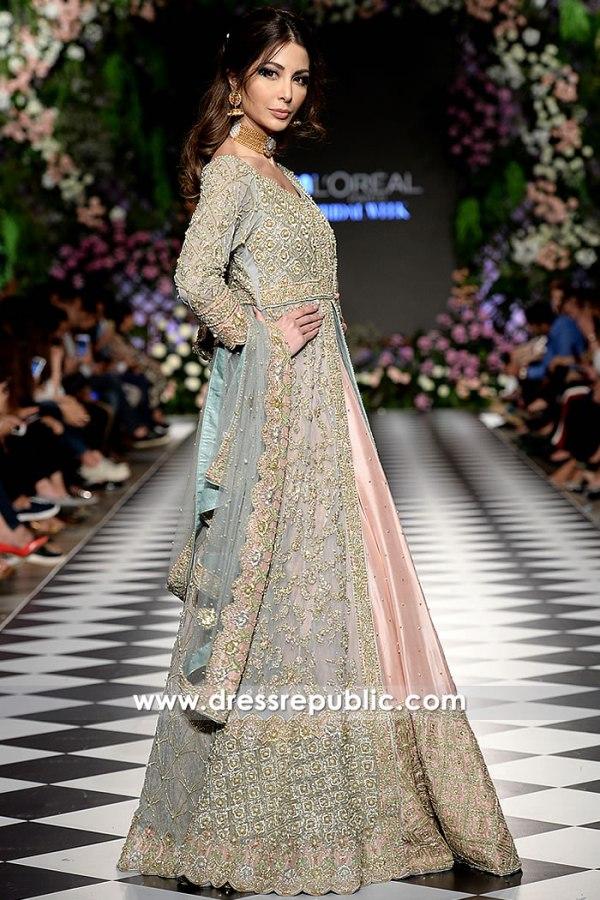 DR15220 Pakistani Designer Dresses for Winter 2018 Wedding Canada