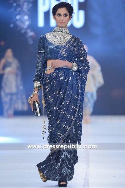 DR15265 Velvet Saree for Winter 2018 Pakistani Indian Designer Sarees Available