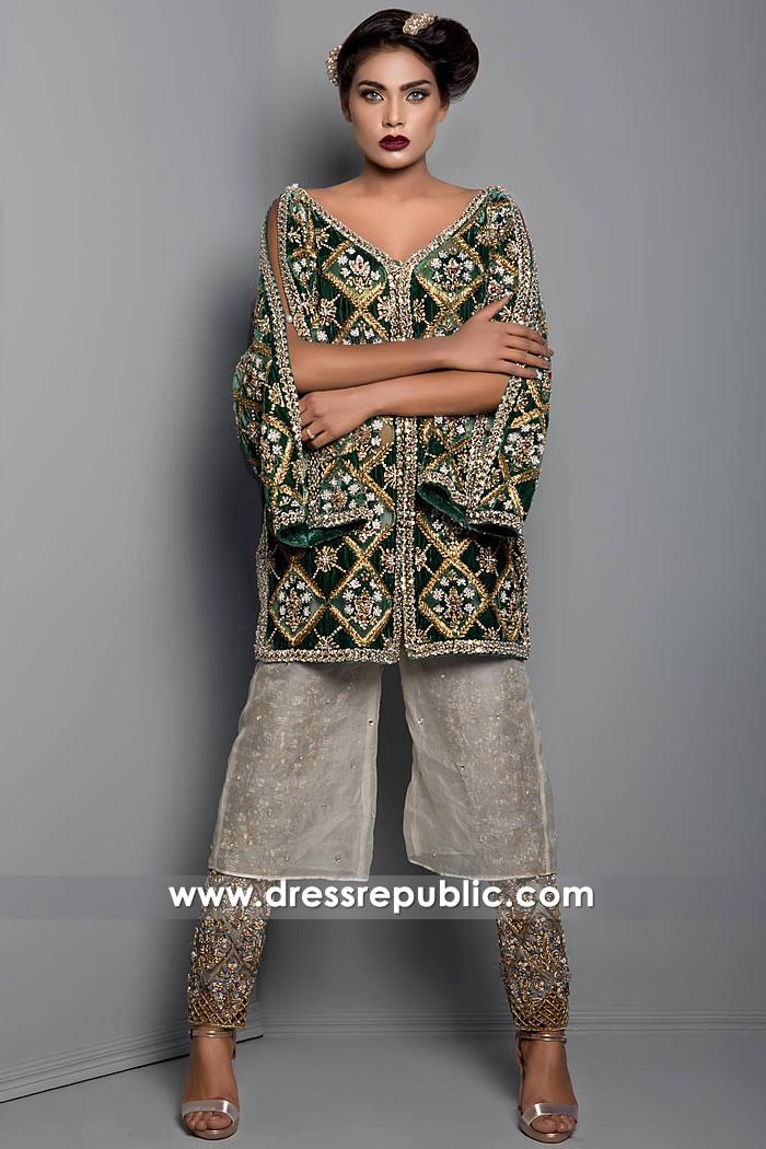 DR15267 Pakistani Designer Velvet Dresses 2019 USA Collection Buy Online