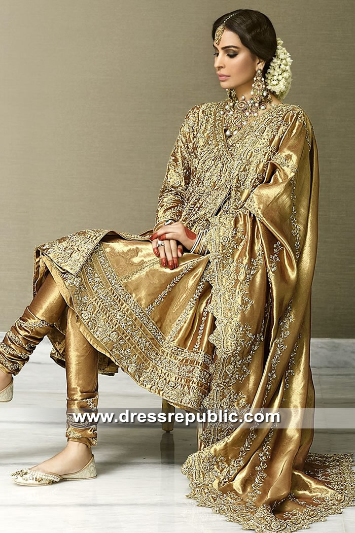 DR15296 Pakistani Angrakha Anarkali Dress 2019 USA, Canada, UK, Australia