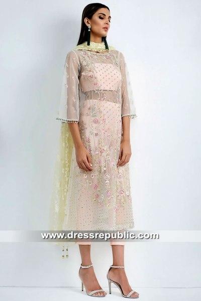 DR15416 Eid 2019 Pink Party Wear Dress Buy in Liverpool, York, Leeds