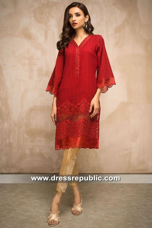 DR15424 Eid 2019 Deep Red Dress Buy in Australia & New Zealand
