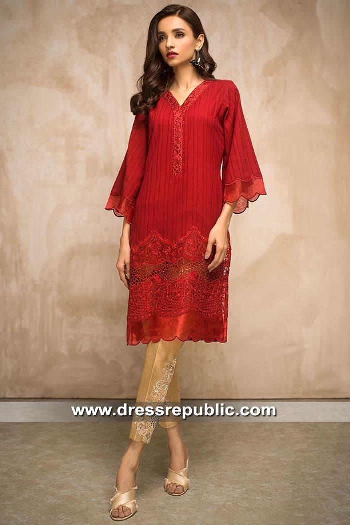 DR15424 Eid 2019 Deep Red Dress Buy in Australia & New Zealand