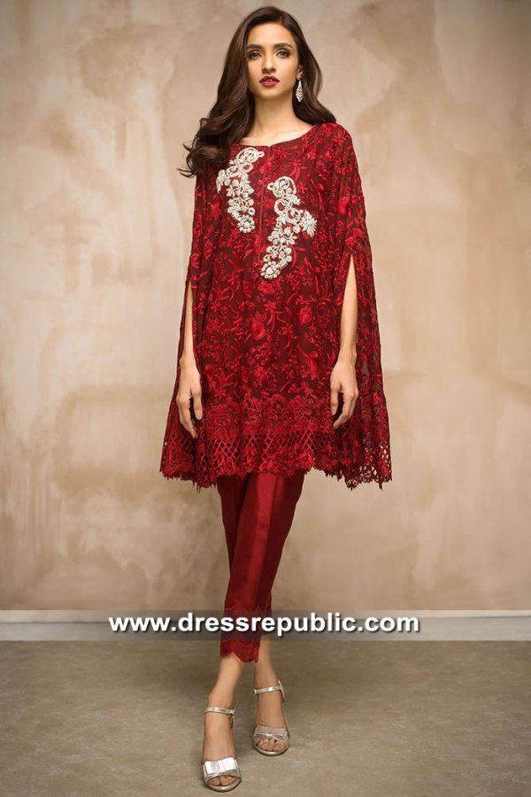 DR15425 Eid 2019 Deep Red Dress Buy in Singapore, Japan, Malaysia