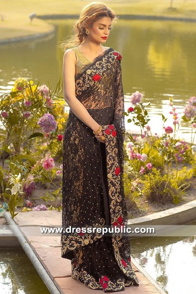 DR15479 Farida Hasan Bridal Saree 2019 USA, Canada, UK, Australia