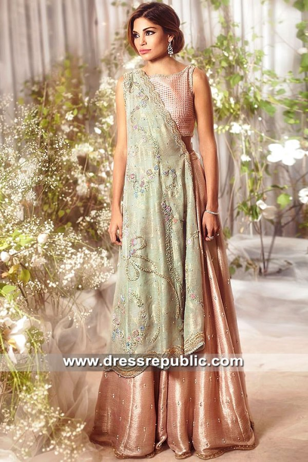 DR15485 Desi Engagement Bride Dress USA Buy in Tea Pink Color
