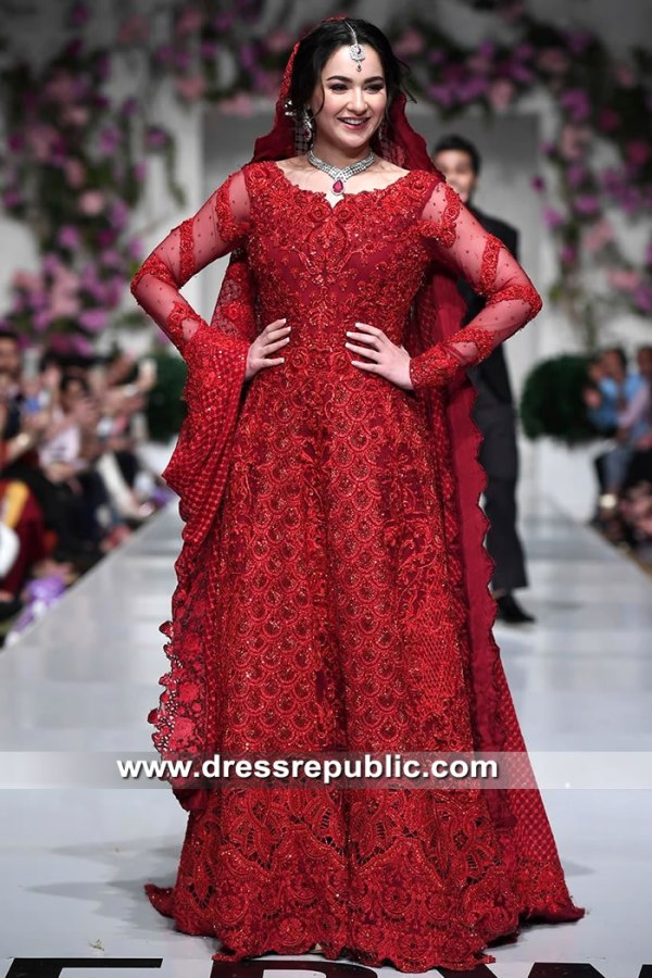 DR15503 Deep Red Bridal Dress For Sikh Wedding USA Buy Online