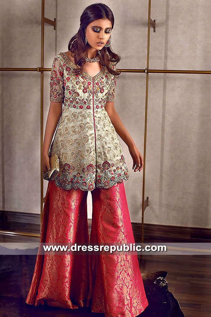 DR15508 Beautiful Pakistani Trousers Suits for Eid 2019 Buy Online