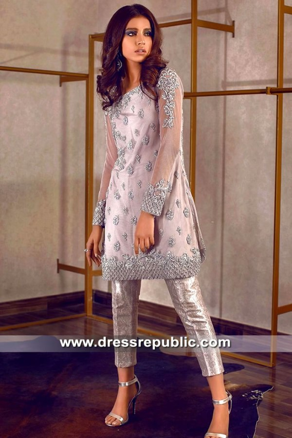 DR15509 Pakistani Designer Rozina Munib Party Wear Dresses Online