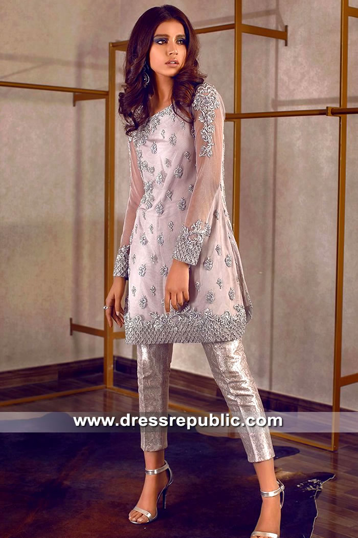 DR15509 Pakistani Designer Rozina Munib Party Wear Dresses Online