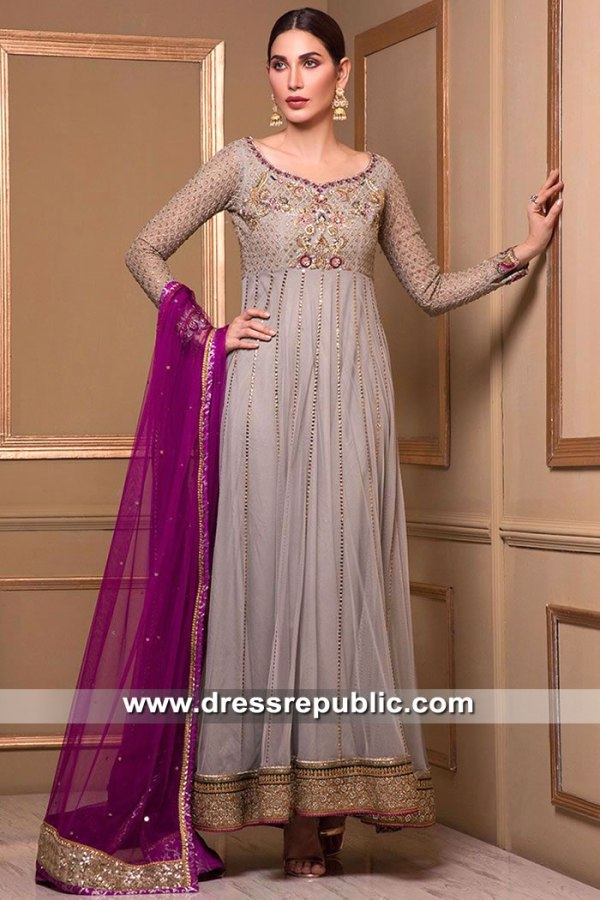 DR15522 Formal Anarkali Dress for Party and Wedding Guest in UK Shop Online