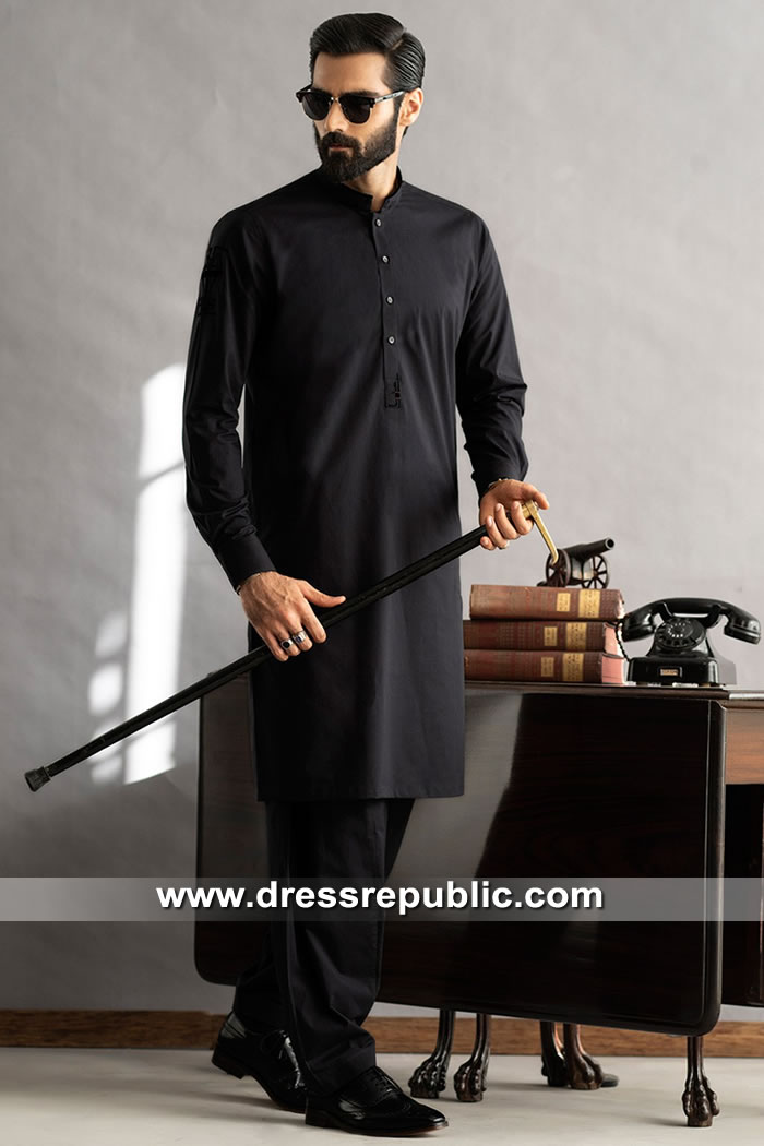 DRM5290 Plain Cotton Kurta For Men Buy Online in Vancouver, Calgary, Montreal
