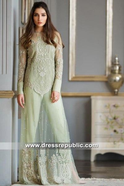 DR15637 Pale Mint Pistachio Green Dress for Mehndi Party Sangeet Henna Online