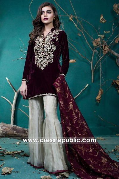 DR15731 Zainab Chottani Party Wear Sharara Styles 2020 Online USA, Canada